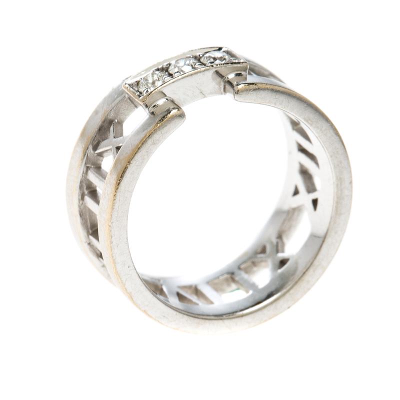 f0809783e Atlas Diamonds 18k White Gold Open Band Ring Size 54. nextprev. prevnext