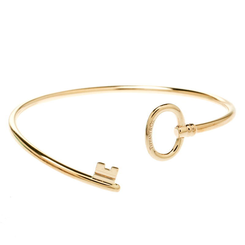 Купить со скидкой Tiffany & Co. Tiffany Keys 18k Rose Gold Narrow Wire Bracelet