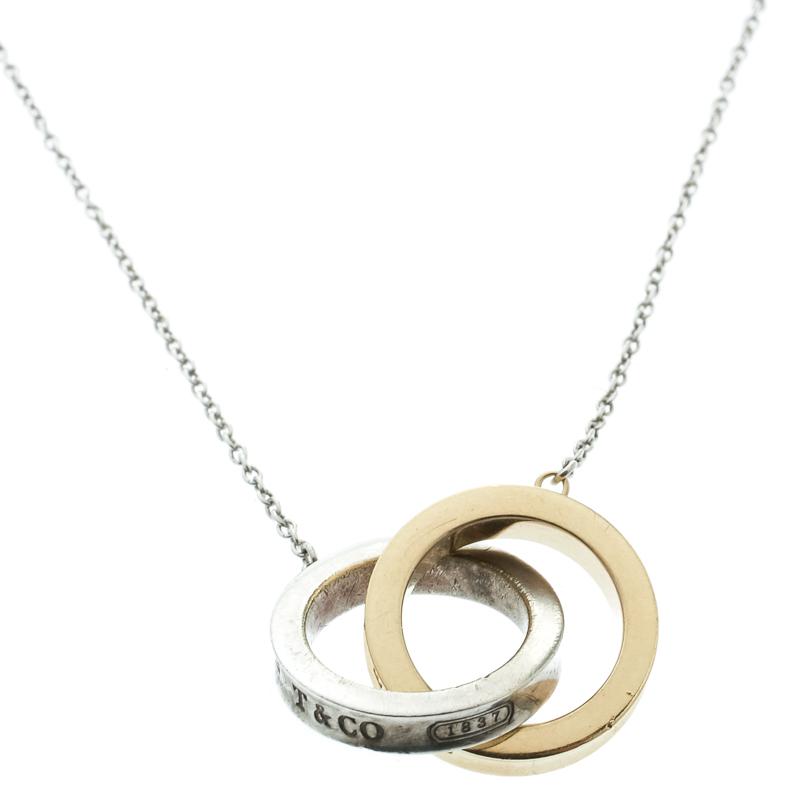 7f96963ad Tiffany 1837 Interlocking Circles Silver & 18k Yellow Gold Pendant Necklace.  nextprev. prevnext