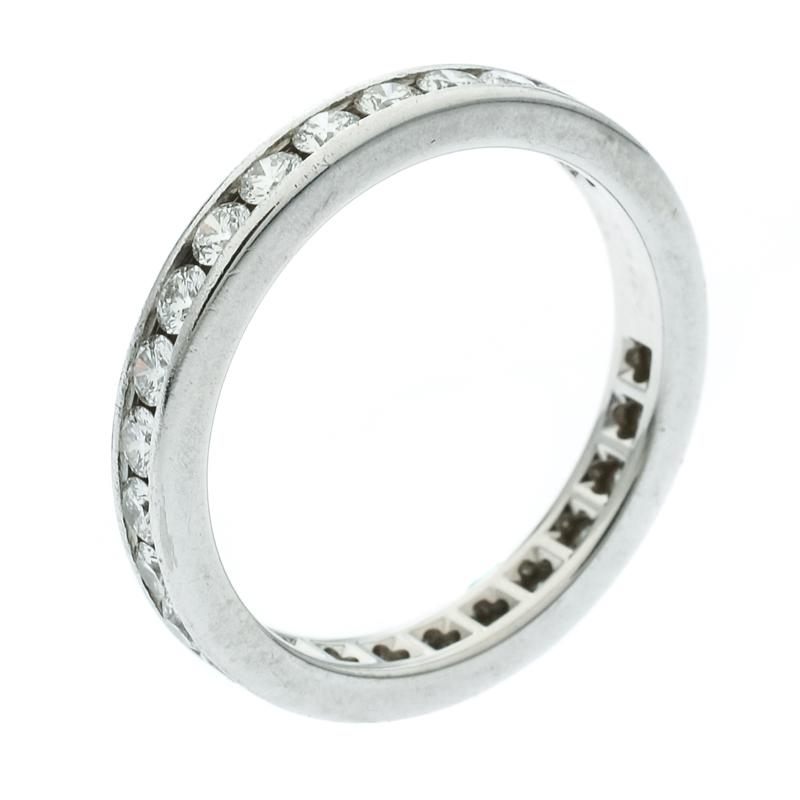 933229ada ... Tiffany & Co. Diamond Channel Set Platinum Eternity Wedding Band Ring  Size 54. nextprev. prevnext
