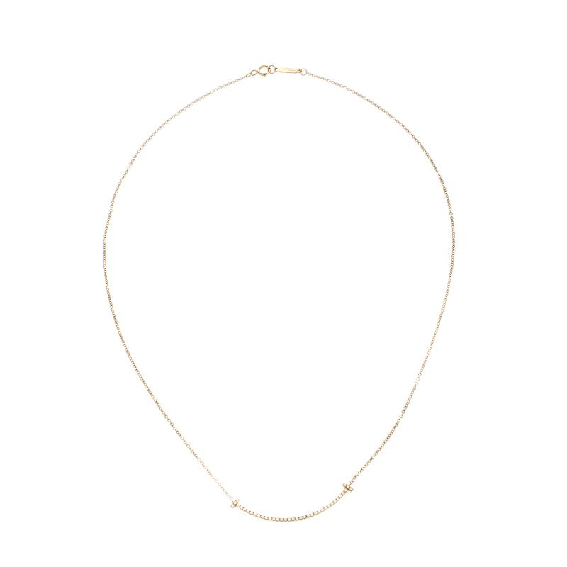 7cda19e266da2 Tiffany & Co. Tiffany T Smile Diamond 18k Yellow Gold Necklace