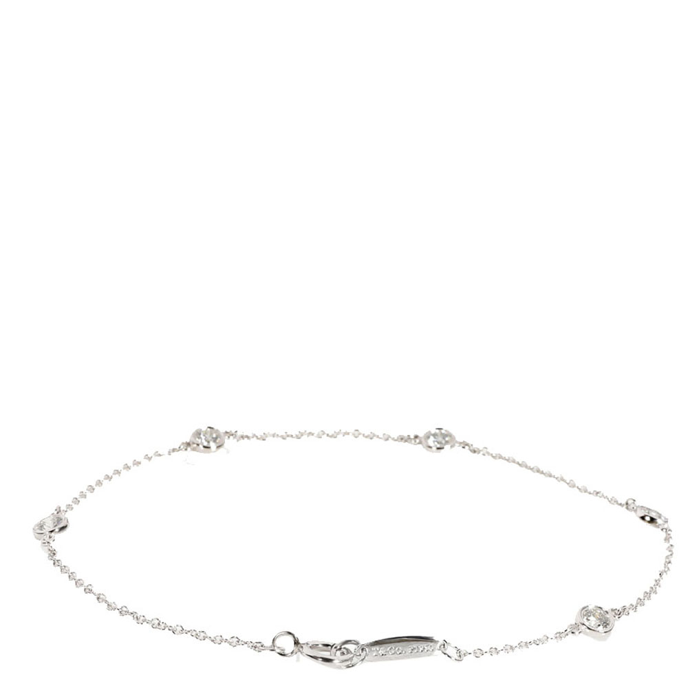 Tiffany & Co. Elsa Peretti Platinum 0.40 CTW Diamonds by the Yard Bracelet
