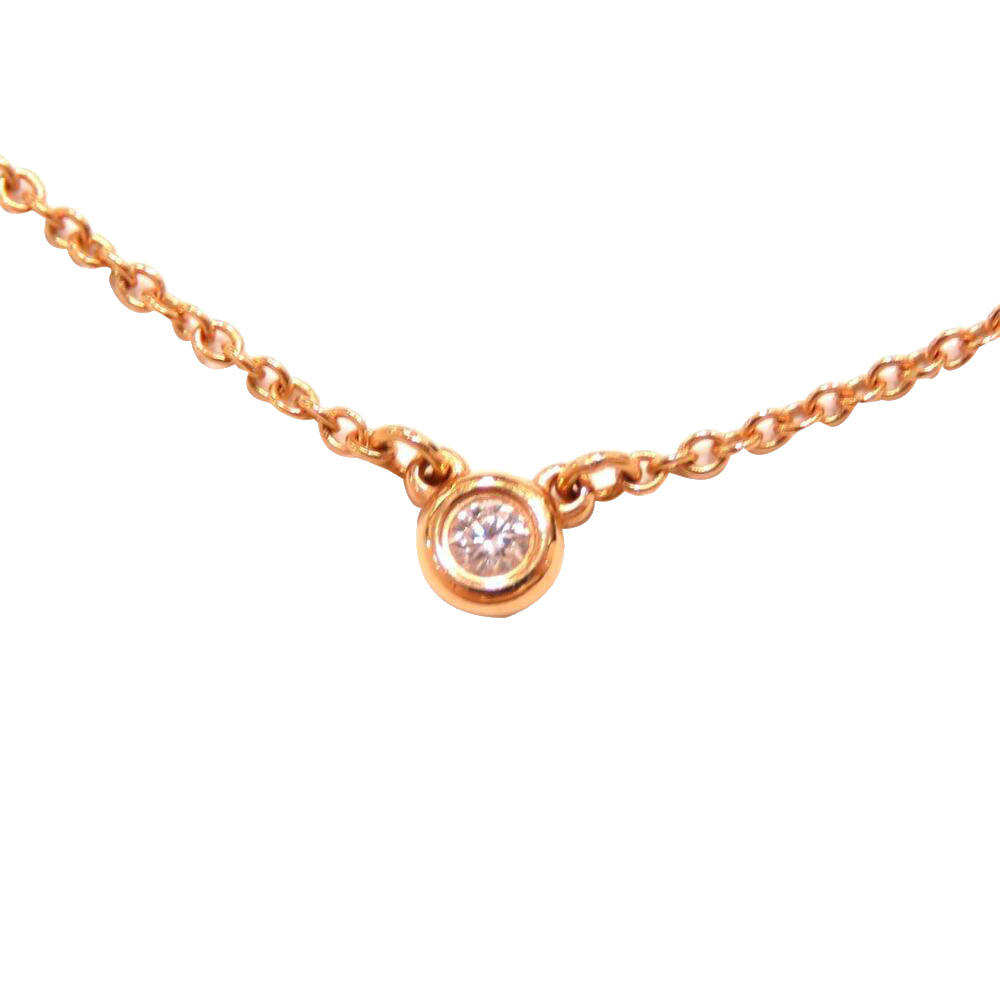Pre-owned Tiffany & Co 18k Pink Gold Diamonds By The Yard Necklace