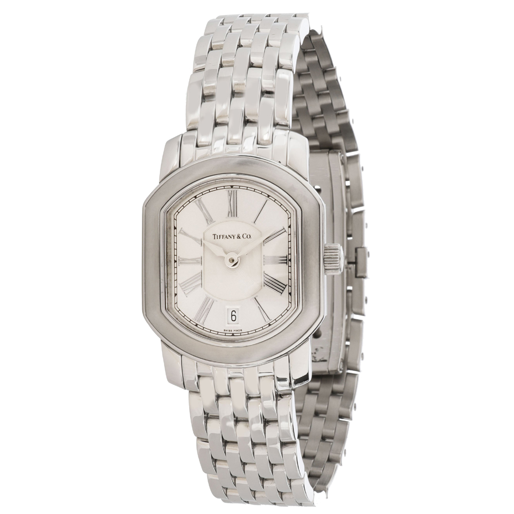 Pre-owned Tiffany & Co Silver Stainless Steel Mark Coupe Women's Wristwatch 23.5 Mm