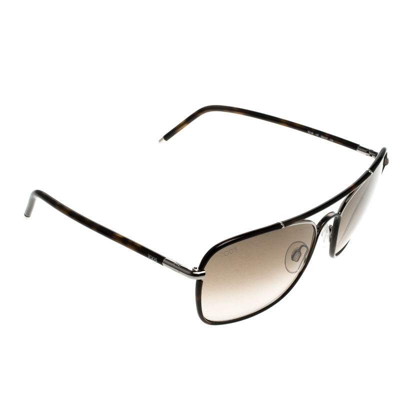 e459308f0 Buy Tod's Brown TO 36 14F Square Sunglasses 129889 at best price | TLC
