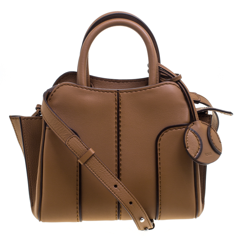 Tod's Brown Leather Micro Sella Satchel