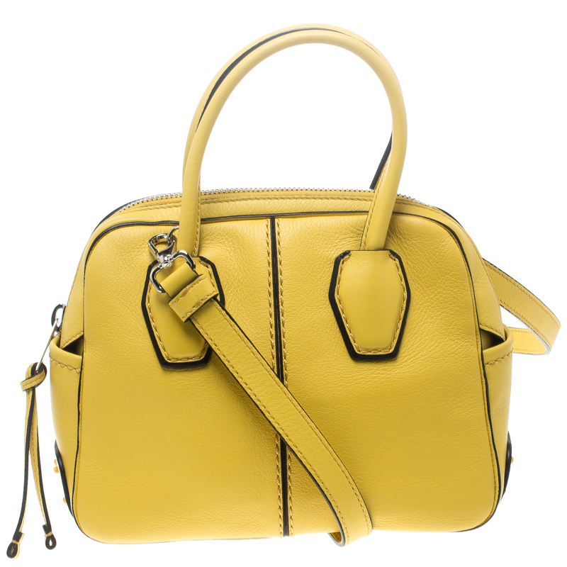 8070b763f08e ... Tod s Yellow Leather Mini Nuovo Miky Top Handle Bag. nextprev. prevnext
