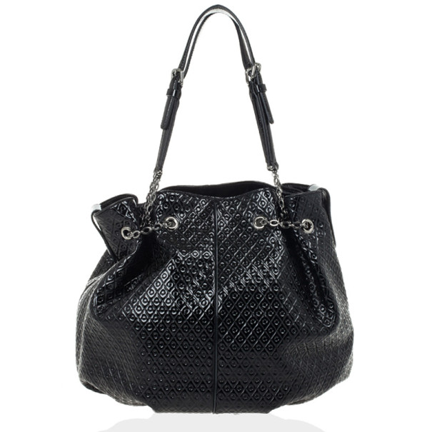 1e4d1dc905d75 Buy Tod`s Signature Medium Black Patent Leather Tote Bag 29037 at ...