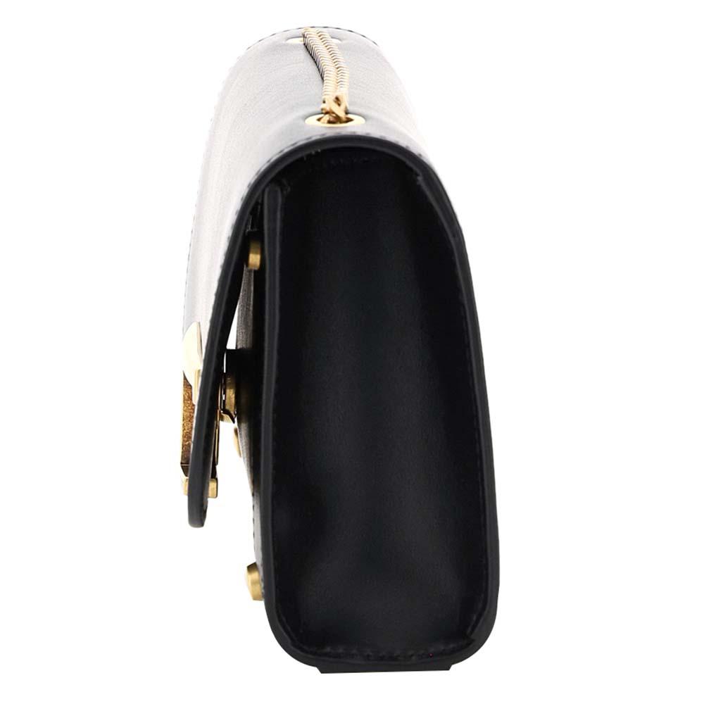 TOD'S Black Leather Ritratto Zoe Bag