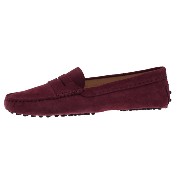 5765723c0de Buy Tod s Purple Suede Penny Loafers Size 39.5 4099 at best price