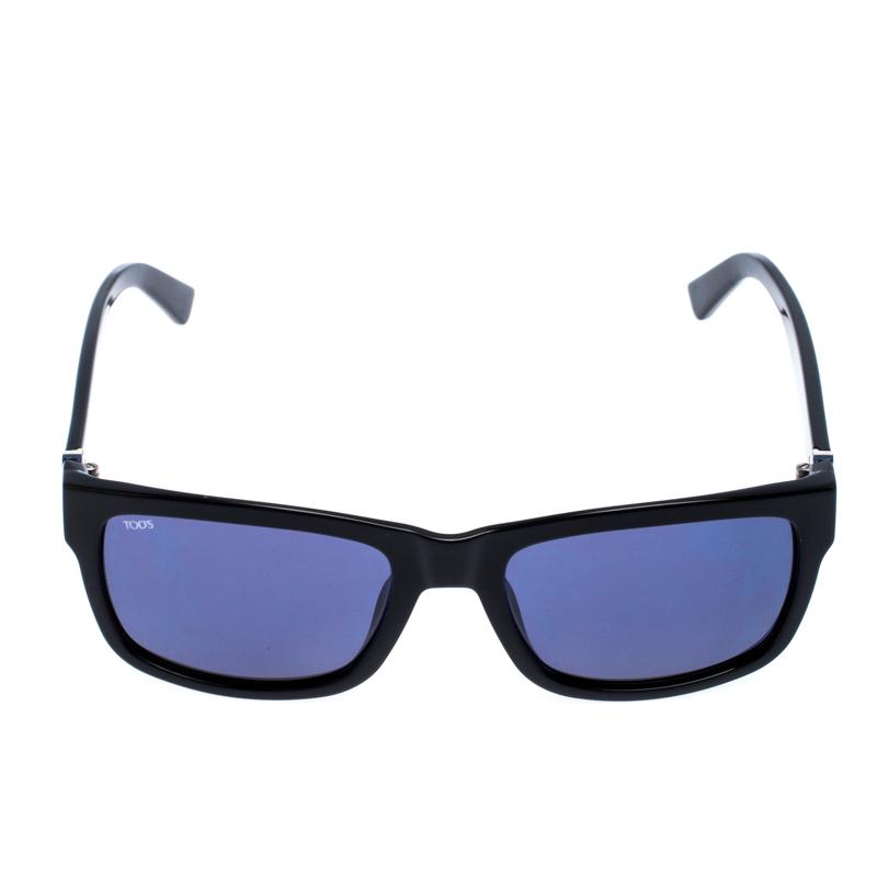 Tod's Noir/Bleu Dégradé À 163 Carré des Lunettes de soleil