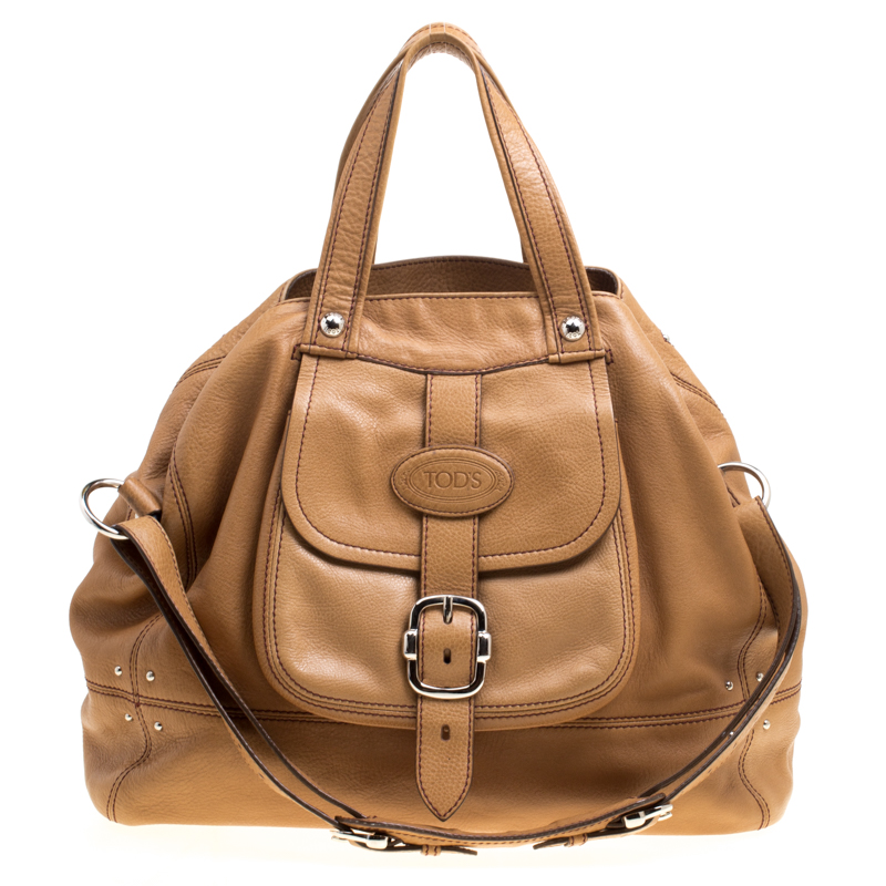 92b85e5d1d Buy Tod's Brown Leather Large Tote 150376 at best price | TLC