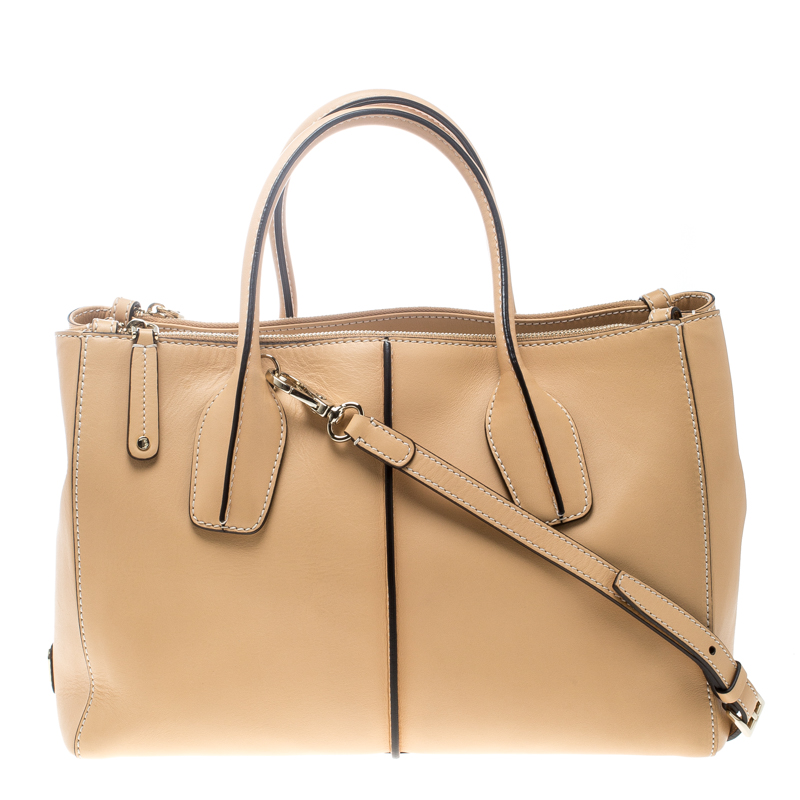 2bf0f4d9a7d51 Buy Tod's Beige Leather D-Styling Shopper Top Handle Bag 167464 at ...