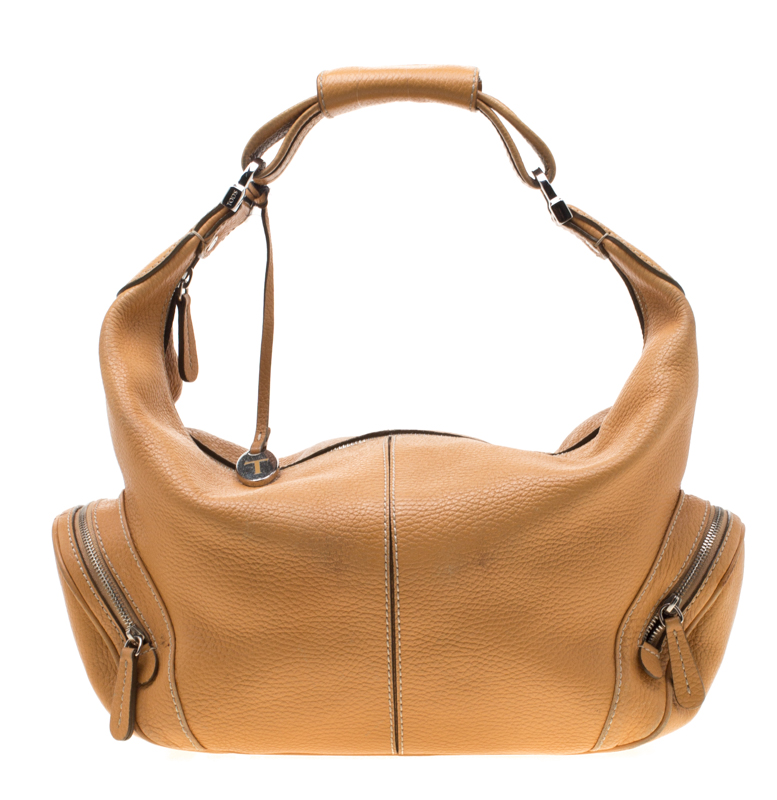 dc1a8705771b0 Buy Tod's Tan Leather Charlotte Hobo 198825 at best price | TLC