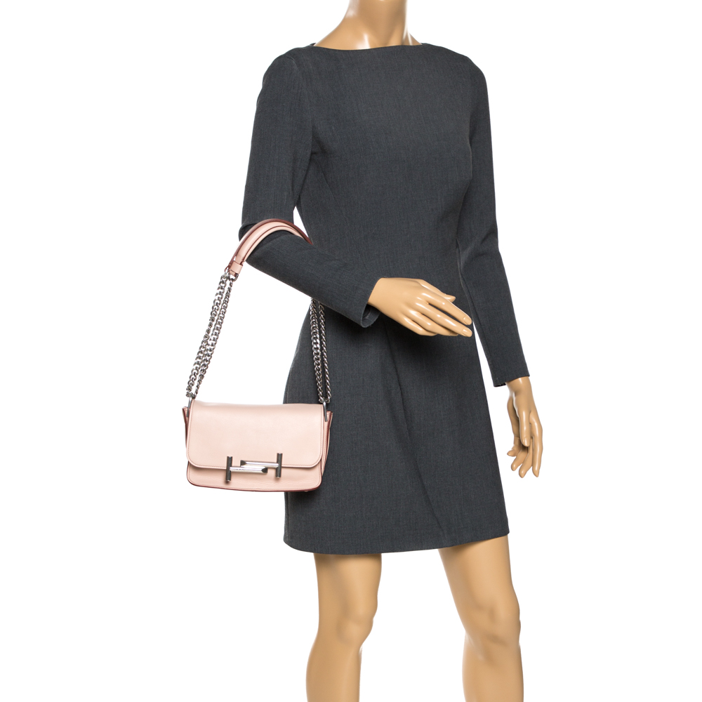 Tod's Pink Leather Mini Catena Shoulder Bag, Tod's  - buy with discount
