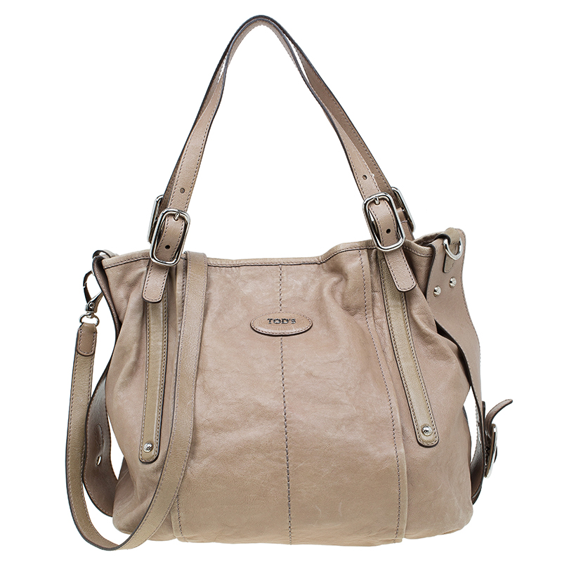 ea8809909928 Buy Tod's Beige Leather G-Line Easy Sacca Tote 57480 at best price   TLC