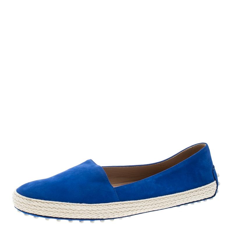 d528ecf893b ... Tod's Cobalt Blue Suede Espadrille Skate Sneakers Size 38.5. nextprev.  prevnext