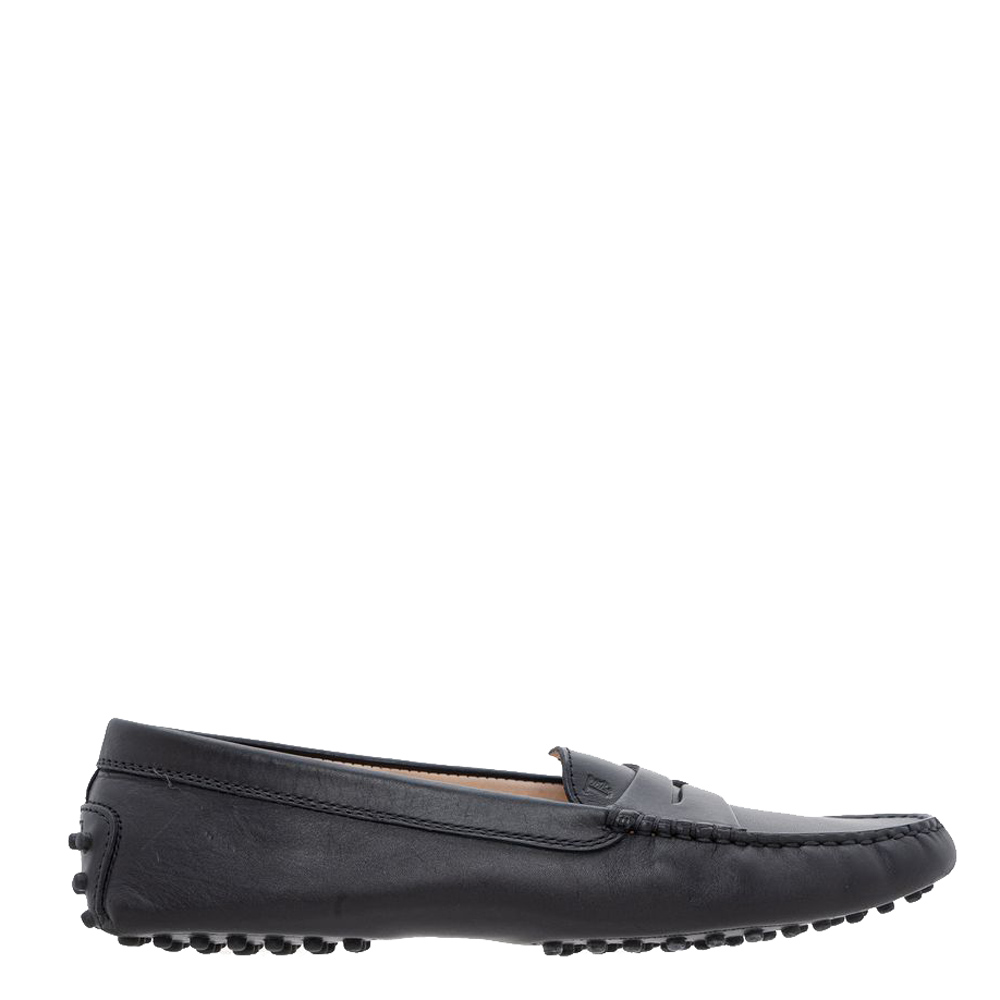 Pre-owned Tod's Black Leather City Loafers