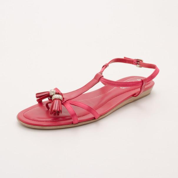 Tod's Pink Tassel Sandals Size 37.5