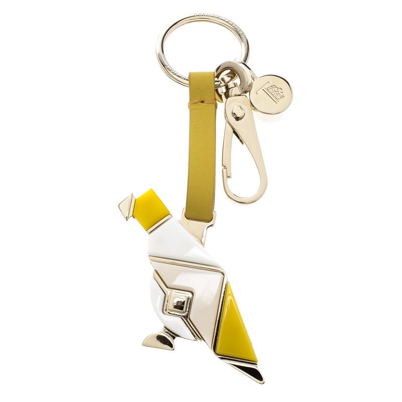 Buy Tod s Parrot Yellow Leather Plexiglass Gold Tone Key Ring 128248 ... b0b068f1e
