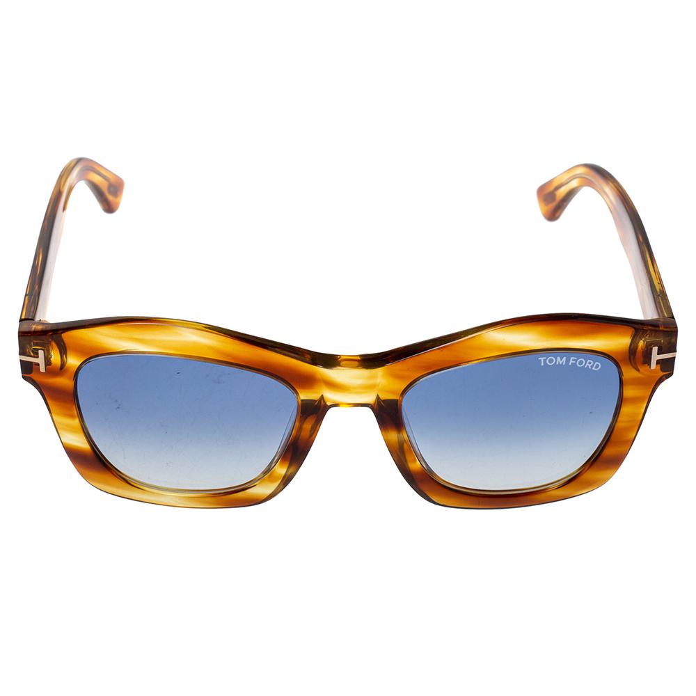 Tom Ford Brown/Blue Gradient Greta Wayfarer Sunglasses