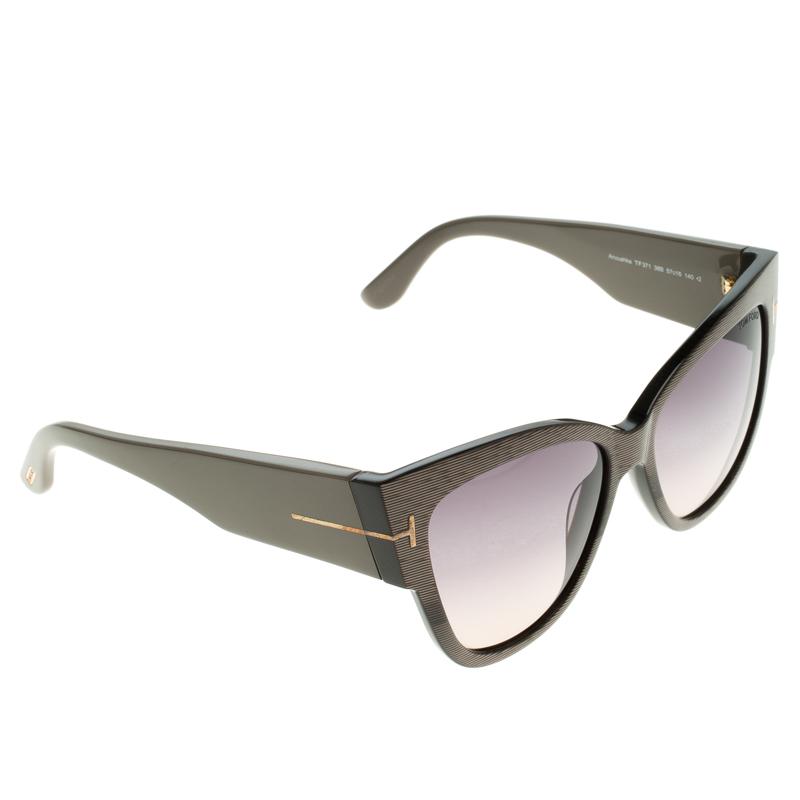 1688af2f6a2c Tom Ford Grey Anoushka Tf 371 Cat Eye Sungles 105140 At Best