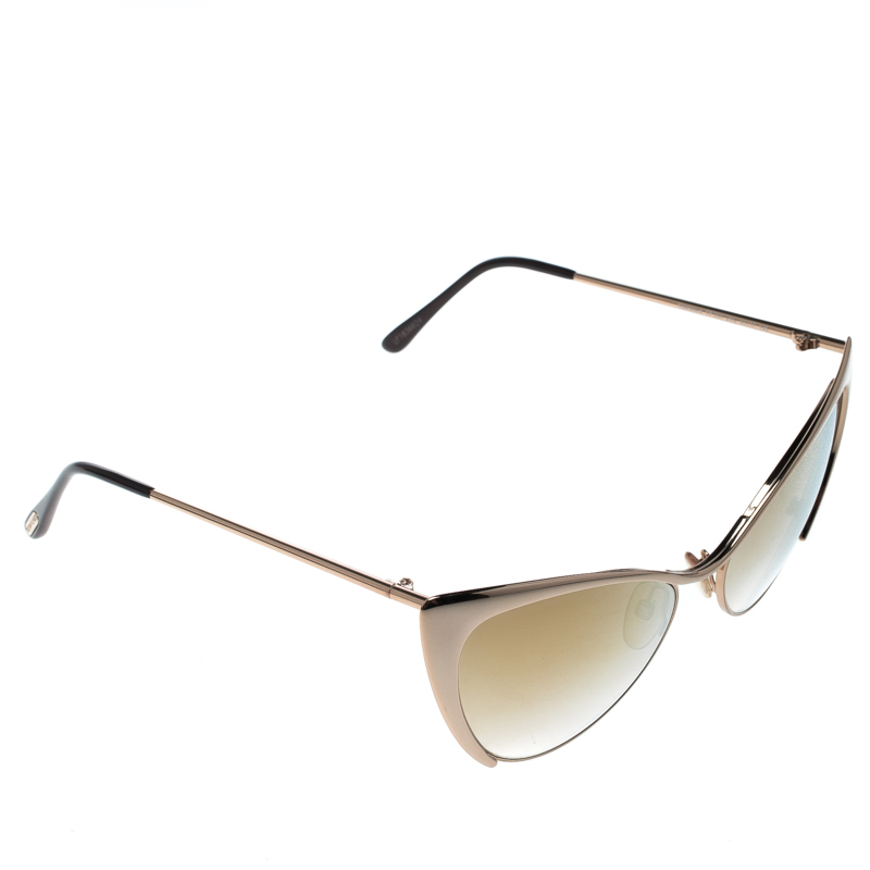 7d6f5fa9fc5 ... Tom Ford Gold Mirrored TF304 Nastasya Cat Eye Sunglasses. nextprev.  prevnext