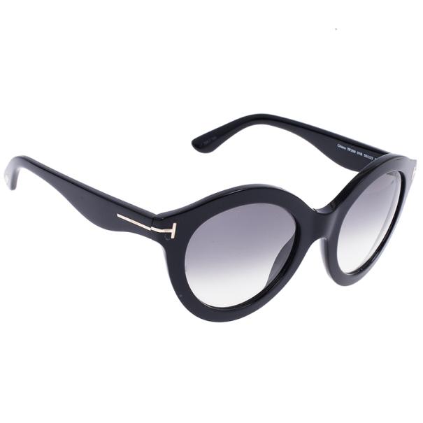 521f27165f05 Buy Tom Ford Black Chiara 55mm Round Sunglasses 15721 at best price ...