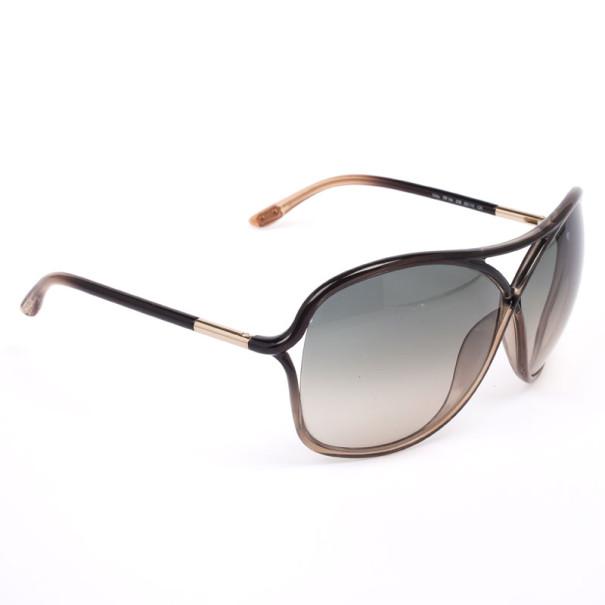 Tom Ford Black Vicky Crossover Women Sunglasses