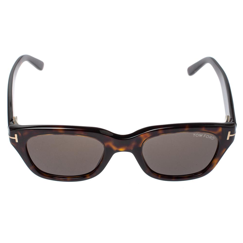 Tom Ford Brown Tortoise Snowdon Wayfarer Sunglasses