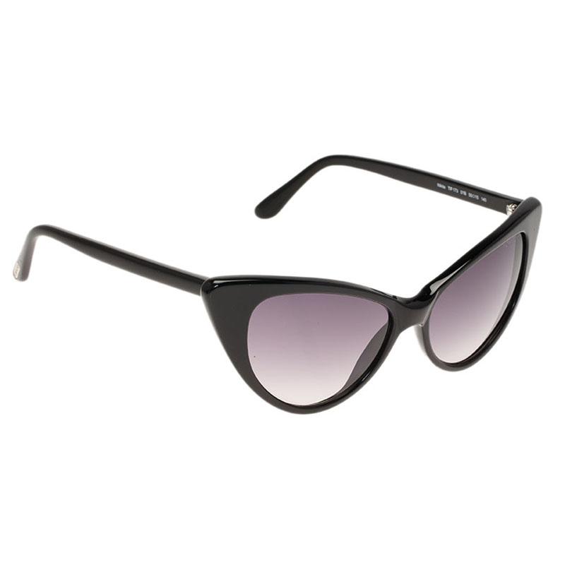 5a9cd141db Buy Tom Ford Black Nikita Cat Eye Sunglasses 77142 at best price