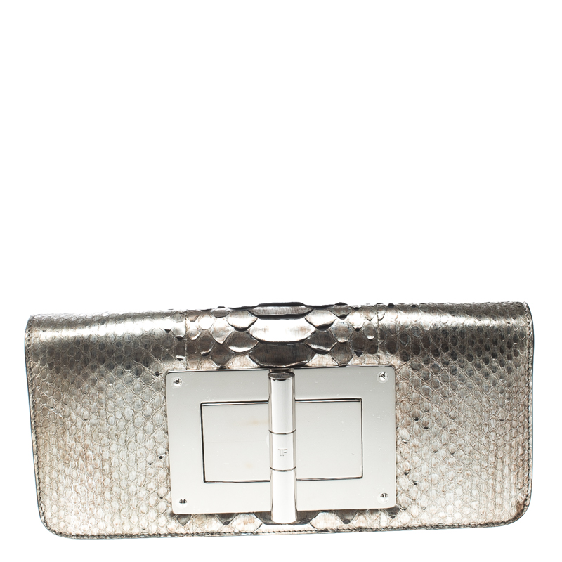 478a80c0ba25 ... Tom Ford Metallic Light Gold Python Natalia Clutch. nextprev. prevnext
