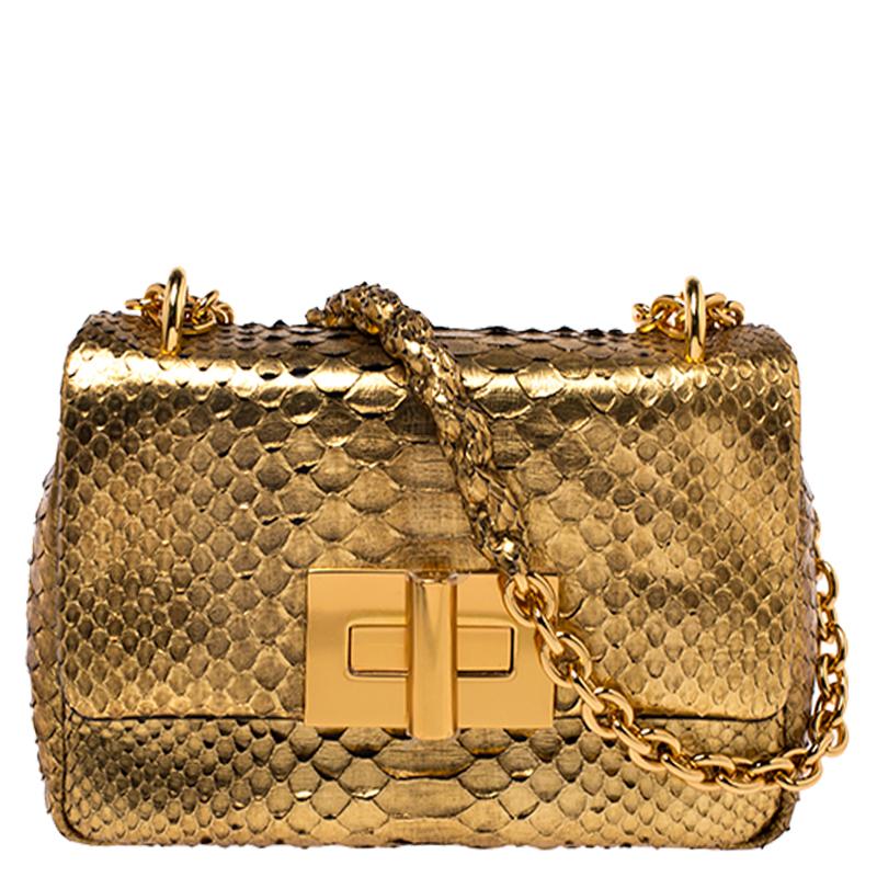 Tom Ford Gold Python Chain Shoulder Bag Tom Ford Tlc