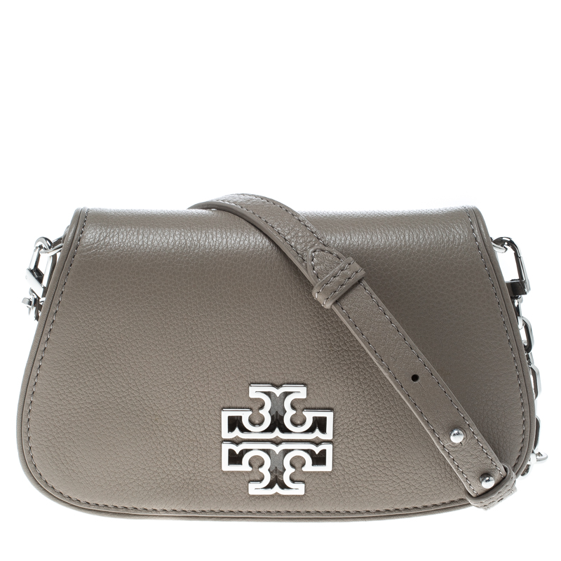 451303e5d8dd ... Tory Burch French Grey Leather Mini Britten Crossbody Bag. nextprev.  prevnext