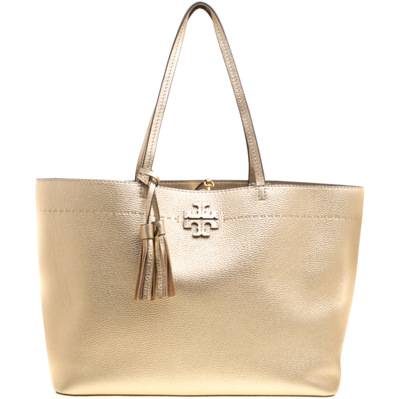 74e7862f57 ... Tory Burch Metallic Gold Leather McGraw Tote. nextprev. prevnext