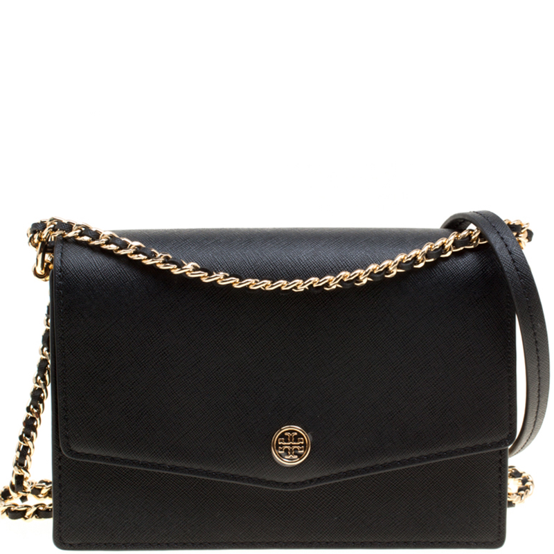 d94d631e52ae6 ... Tory Burch Black Leather Mini Robinson Shoulder Bag. nextprev. prevnext