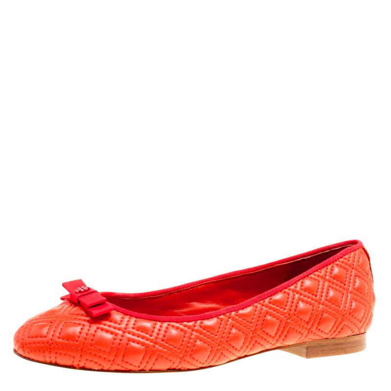 62612633281 ... Tory Burch Orange Quilted Leather Ballet Flats Size 37. nextprev.  prevnext
