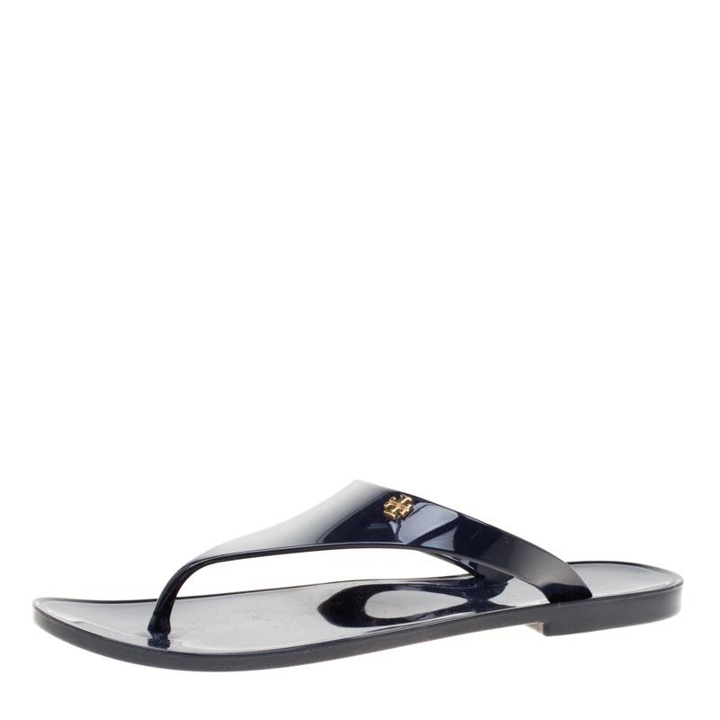 c09618c528b2 ... Tory Burch Blue Rubber Speer Flat Thong Sandals Size 36. nextprev.  prevnext