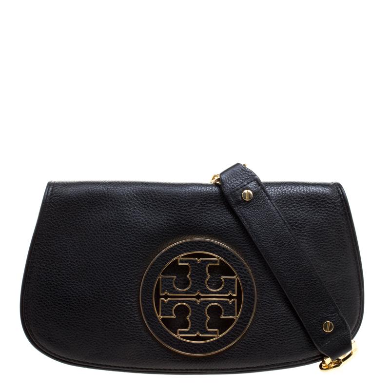 9170f8bb067 ... Tory Burch Black Leather Reva Logo Crossbody Bag. nextprev. prevnext