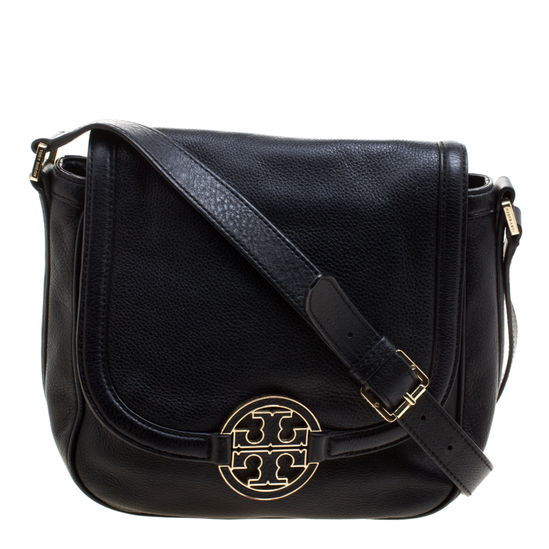 590f54b3b64 ... Tory Burch Black Leather Amanda Round Crossbody Bag. nextprev. prevnext