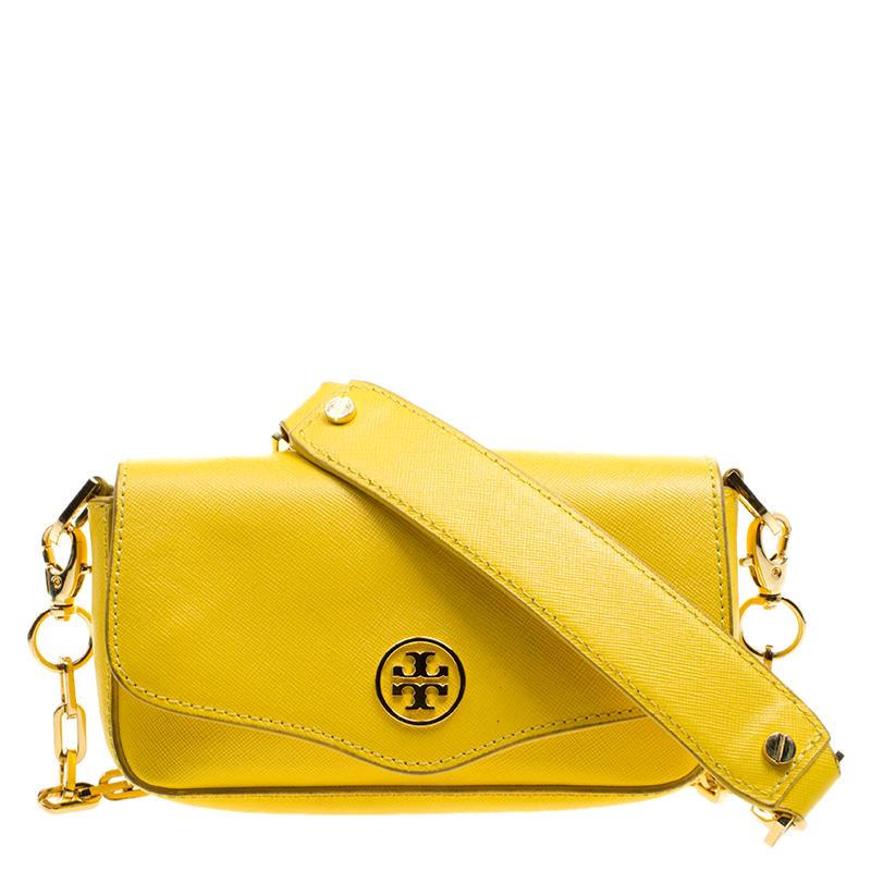 90bdc7880d ... Tory Burch Yellow Leather Mini Chain Crossbody Bag. nextprev. prevnext