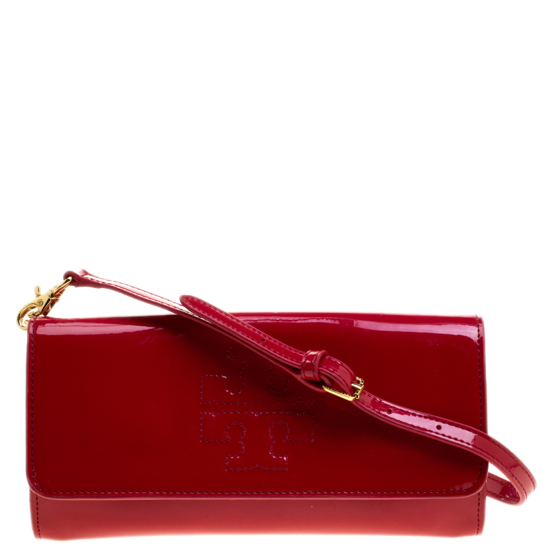 90f624a239 Buy Tory Burch Red Patent Leather Shoulder Bag 129831 at best price ...