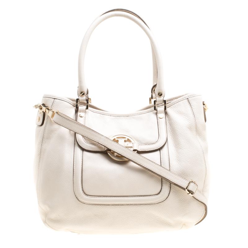 d54da1d8f0d Tory Burch Cream Leather Amanda Hobo 152380 At Best Tlc. Tory Burch Amanda  Dome Satchel Shoulder Bag Handbag