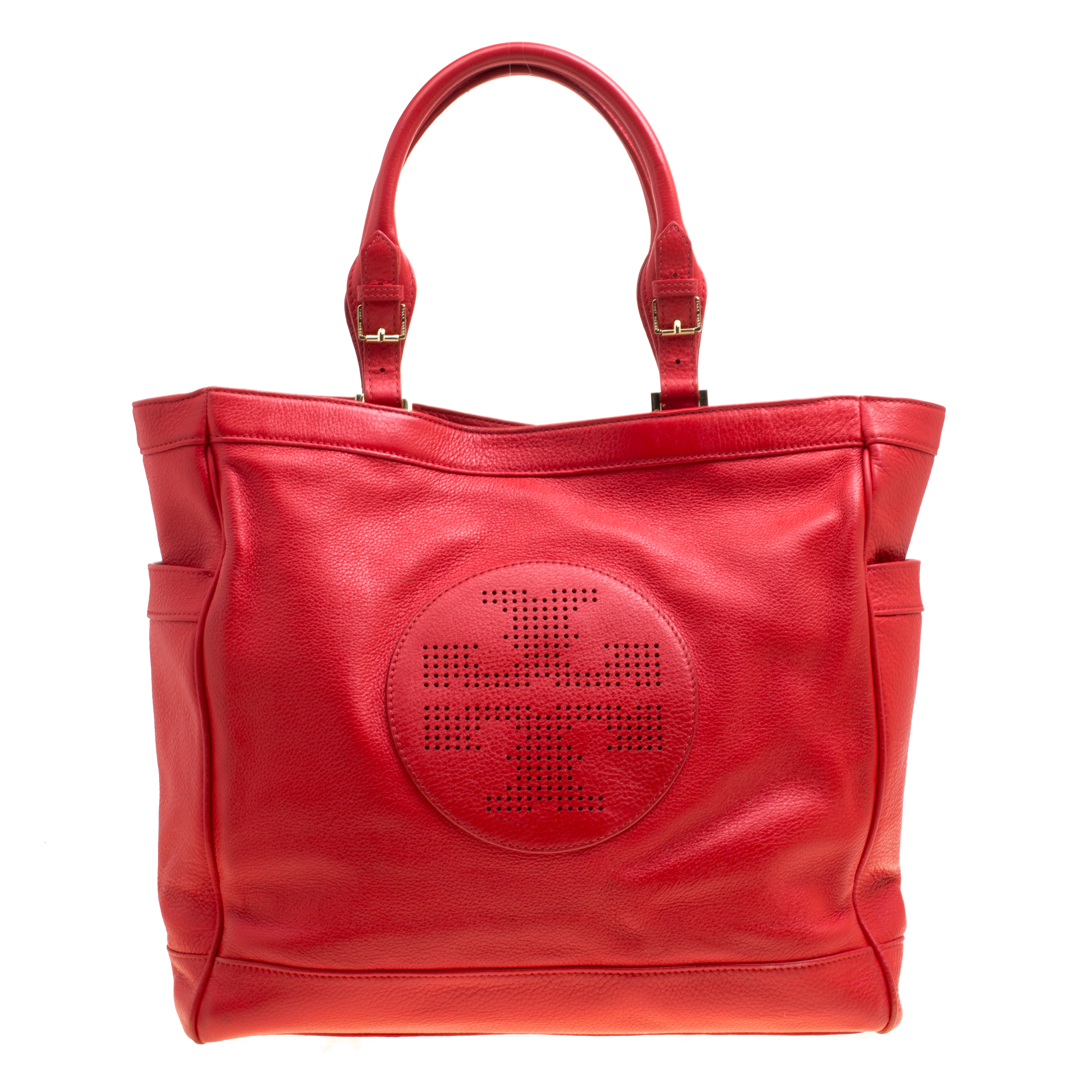 b9557767086 Buy Tory Burch Red Leather Tote 167476 at best price