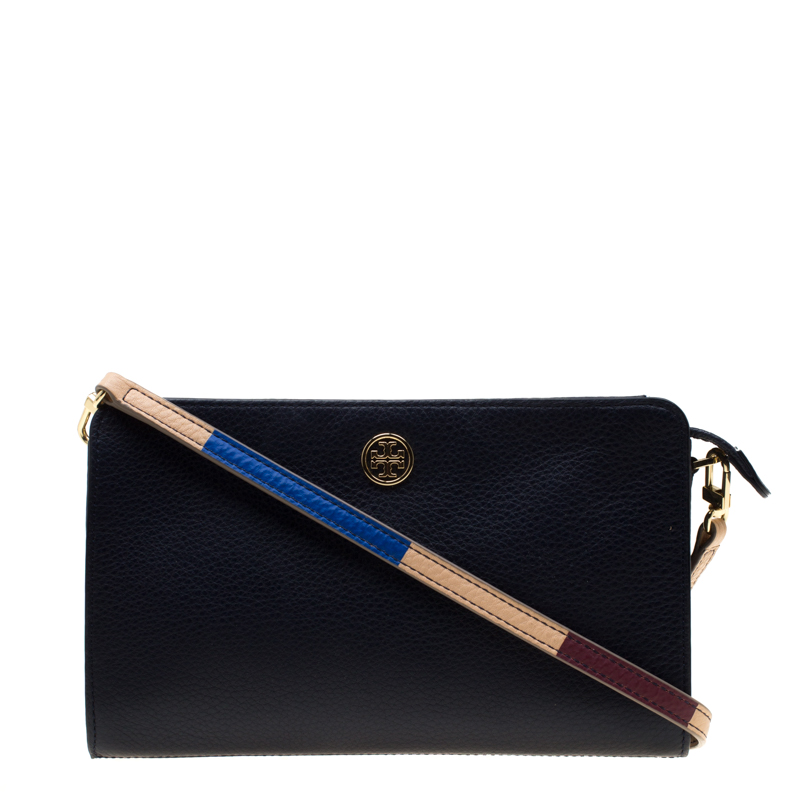 25d17b84a96 ... Tory Burch Navy Blue Leather Robinson Crossbody Bag. nextprev. prevnext