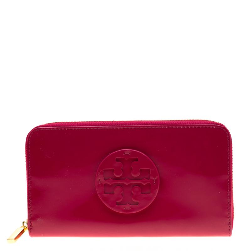 149bdedd0 ... Tory Burch Fuschia Patent Leather Zip Around Wallet. nextprev. prevnext