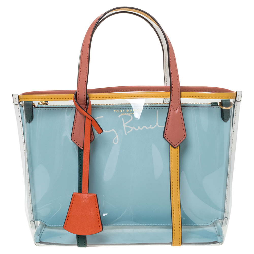 Tory Burch Multicolor PVC and Leather Perry Tote