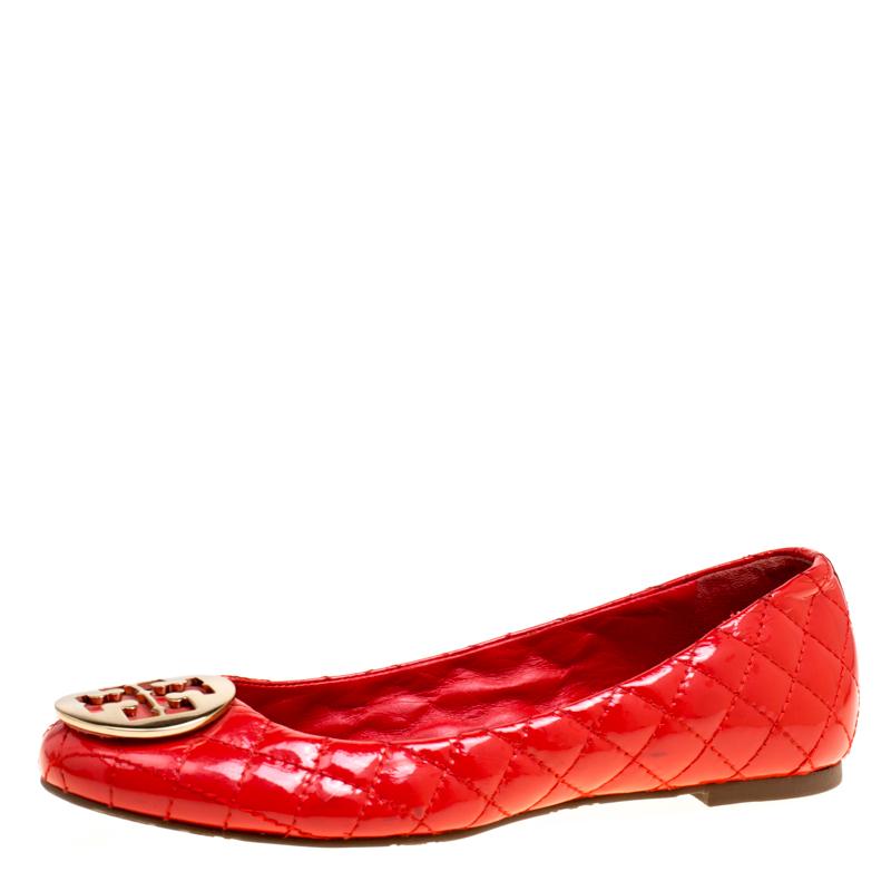 3ffde64115b9 ... Tory Burch Red Quilted Leather Quinn Ballet Flats Size 40. nextprev.  prevnext