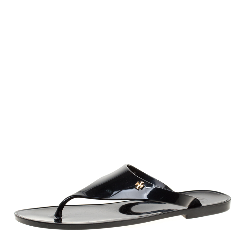 35f6f82139e3 ... Tory Burch Black Rubber Speer Flat Thong Sandals Size 36. nextprev.  prevnext