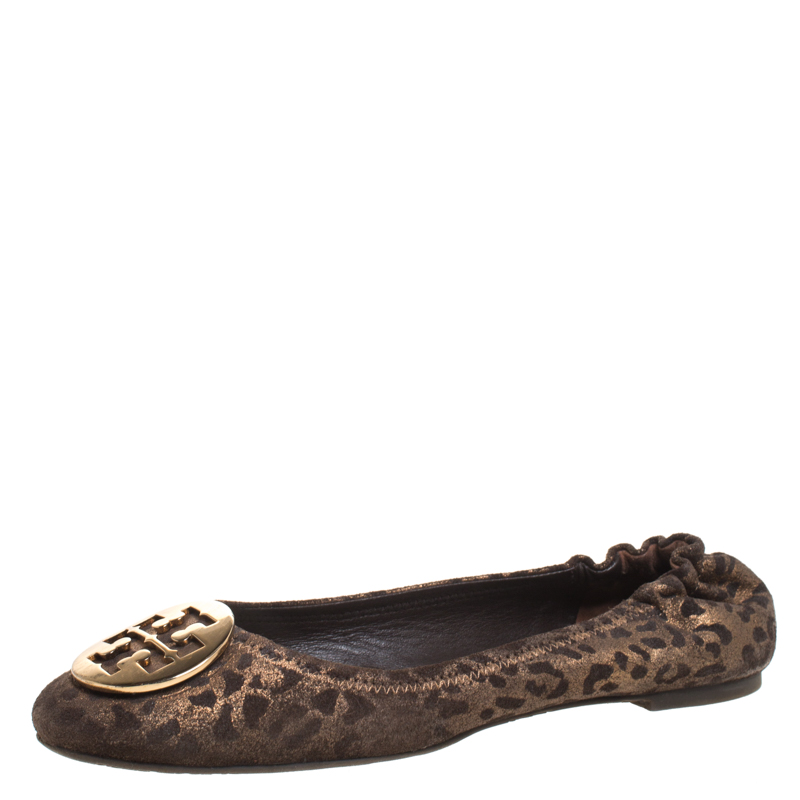 Tory Burch Brown Leopard Print Leather